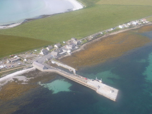 Kettletoft: the pier from the air