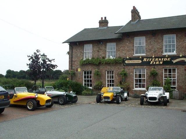 Riverside Farm Pub with Locusts