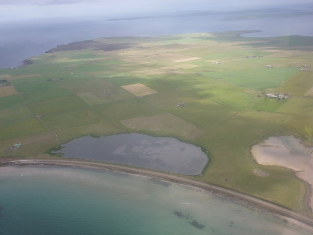 Shapinsay: Lairo Water from the air