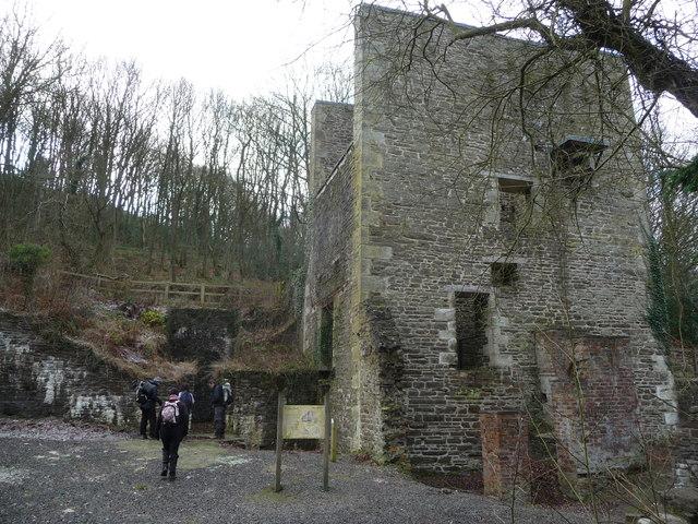 The old Cornish Engine house at Snailbeach lead mine