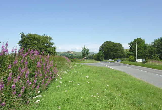 Road junction south-west of Tregaron, Ceredigion