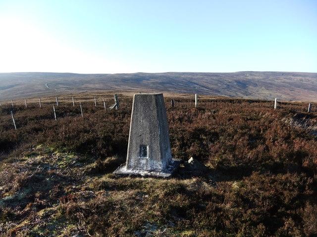 Trig pillar on Black Hill