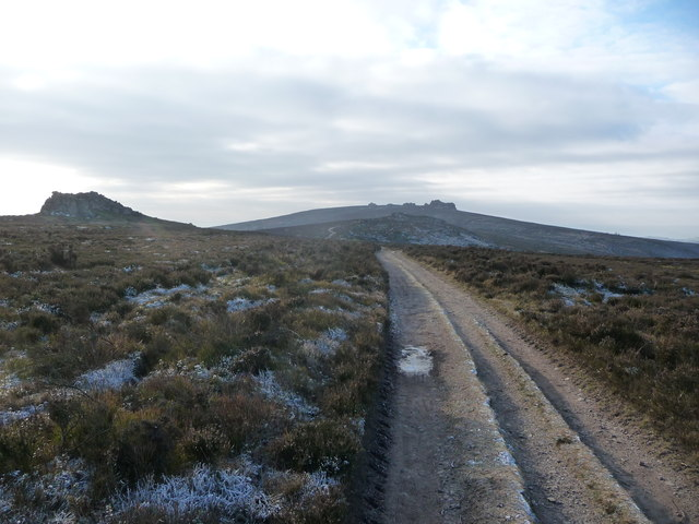 Path on the Stiperstones in winter