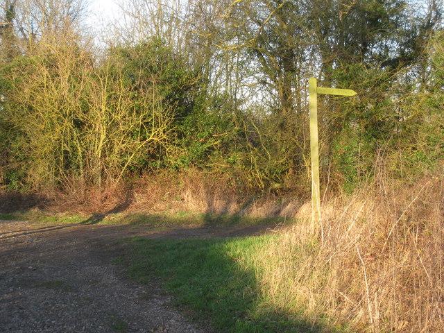 Footpath sign on Carr Lane
