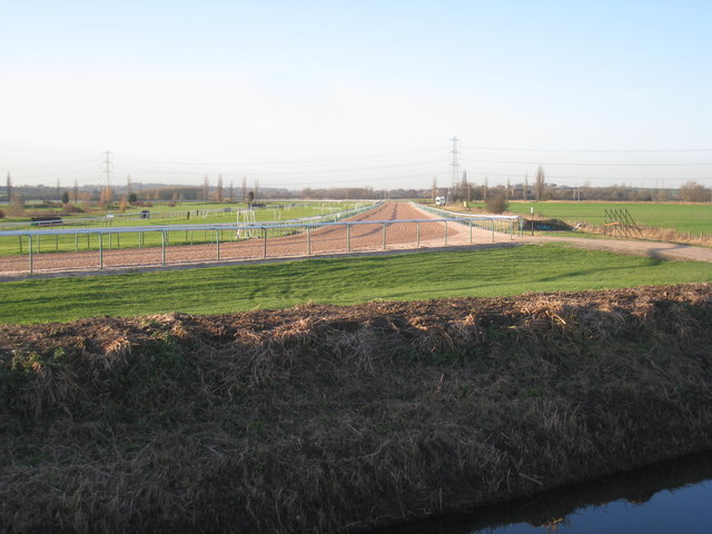 View along one of the straights at Southwell Racecourse