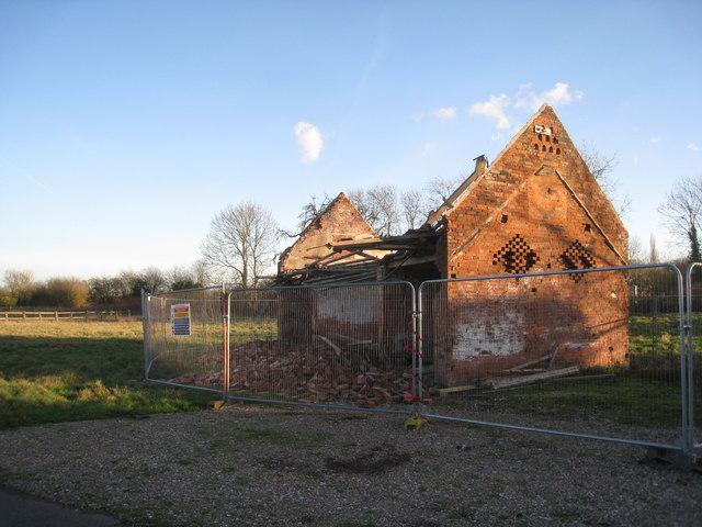 Wrecked barn