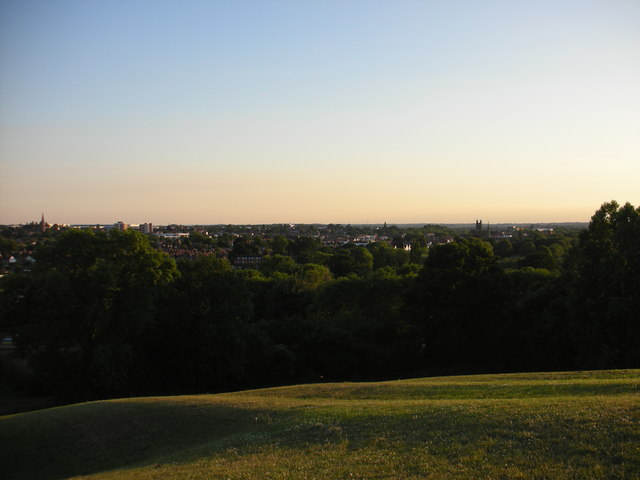 View over Leamington from Beacon Hill