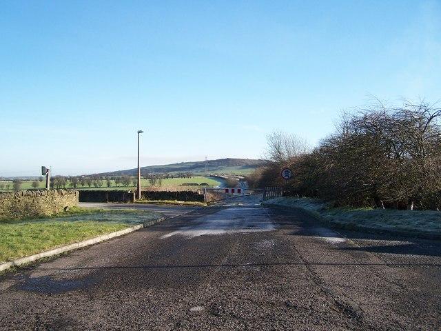 Original line of the A616 near The Flouch Inn, Hazlehead, near Sheffield