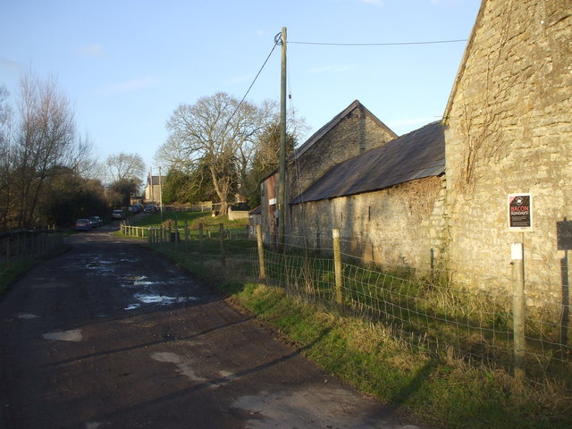Outbuildings and track, Old Cogan Hall Farm