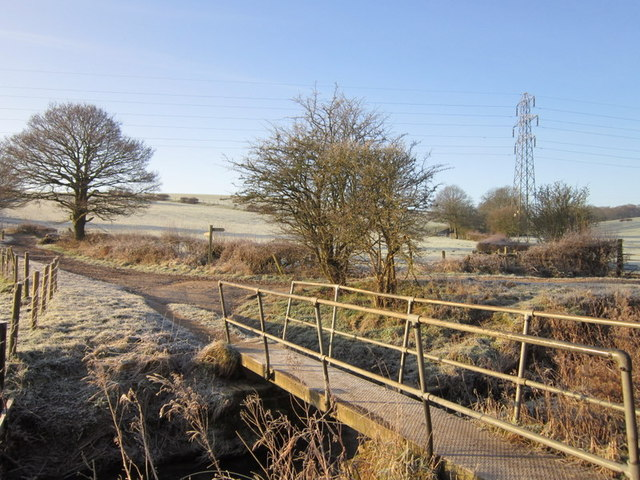 A footbridge on Scholebrook Lane