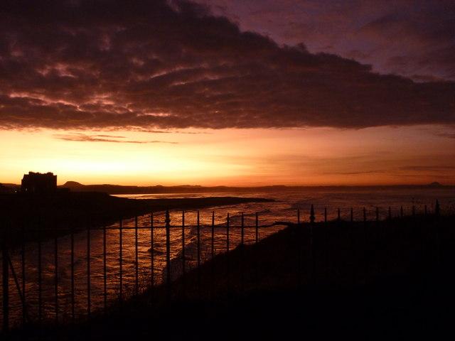 Coastal East Lothian : Dunbar Clifftop Sunset