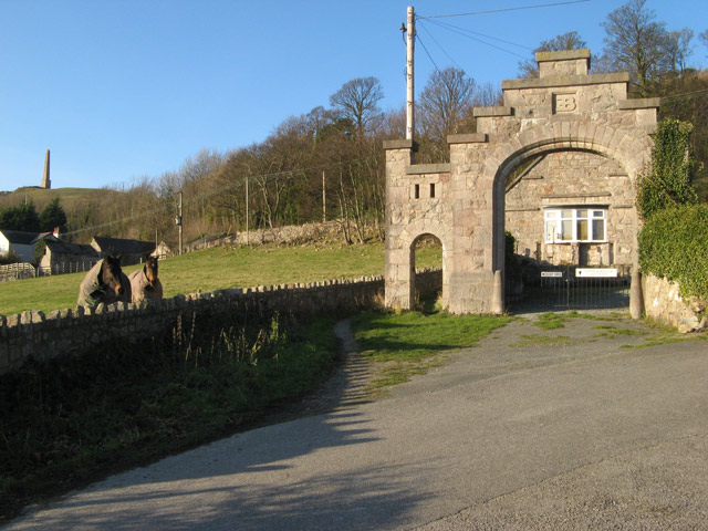 Gatehouse and bridleway