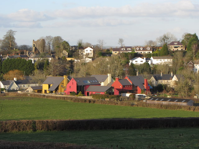 Colourful houses in Llanblethian