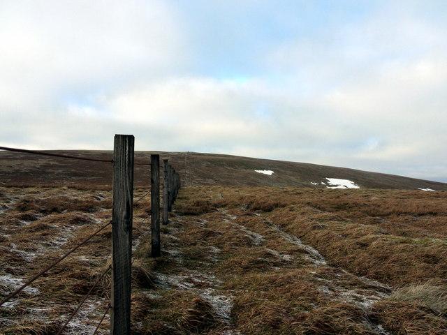 Fence on Hartfell Craig