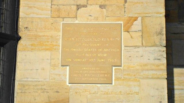 Commemorative J F Kennedy plaque