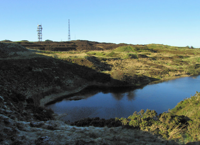 Pond near the masts