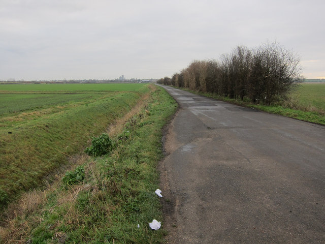 West Fen Road passing place