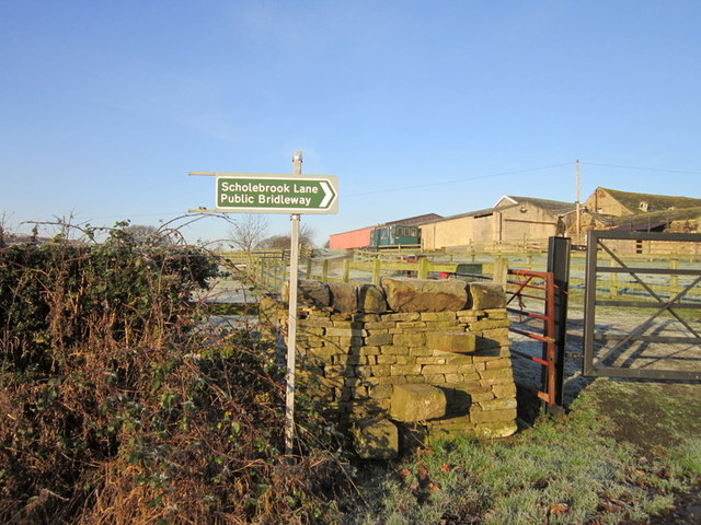 A footpath off Raikes Lane goes to Holme Wood, Bradford
