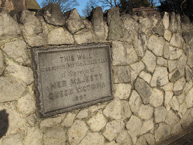 Plaque on the Jubilee wall
