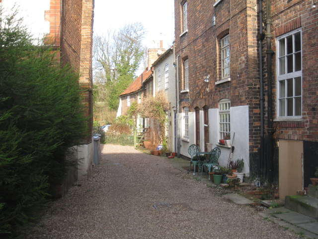 Cottages off Church Street, Southwell