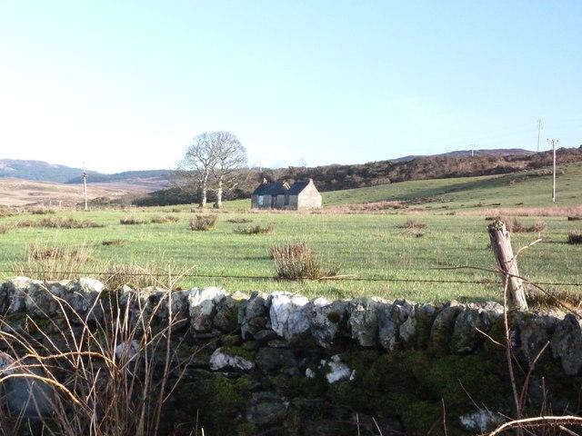 Derelict croft near Kilfinan