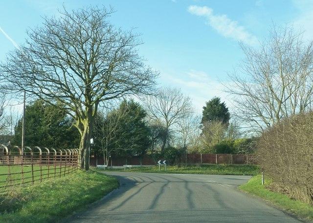 Junction of Mill Lane, Bull Park Lane and Grange Road