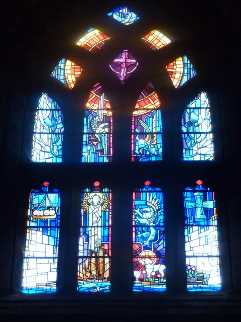 Kirkwall: the cathedral's west window