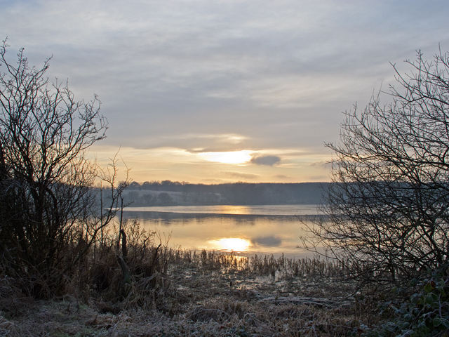 Gartmorn Dam in winter