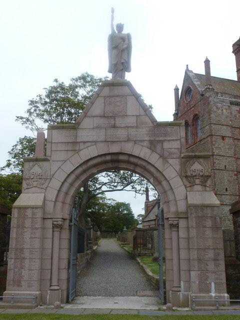 Kirkwall: war memorial arch