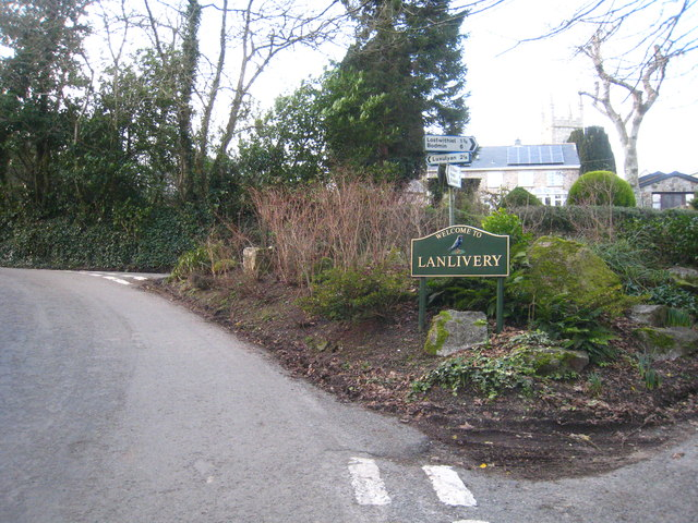 The south western approach to Lanlivery