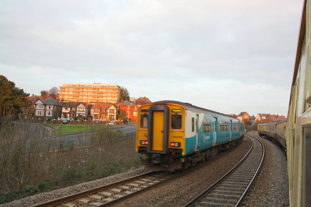 A diesel multiple unit heads for Barry