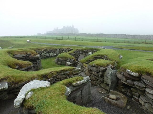 Jarlshof: Iron Age round houses