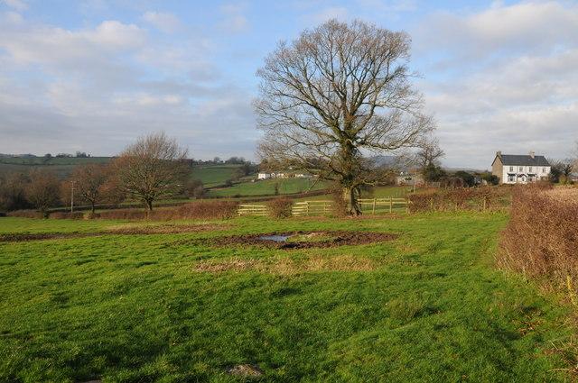 Farmland near Llanddewi Rhydderch