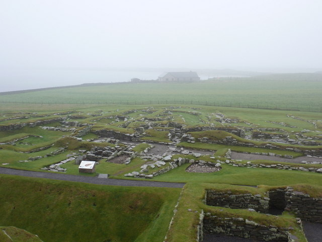 Jarlshof: looking over the Viking settlement