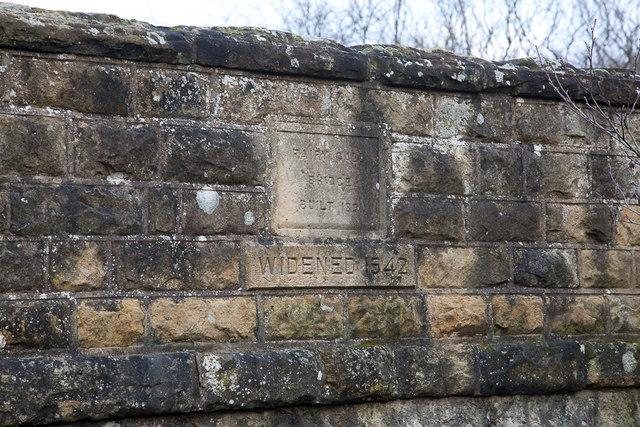 Fairy Call Bridge plaque