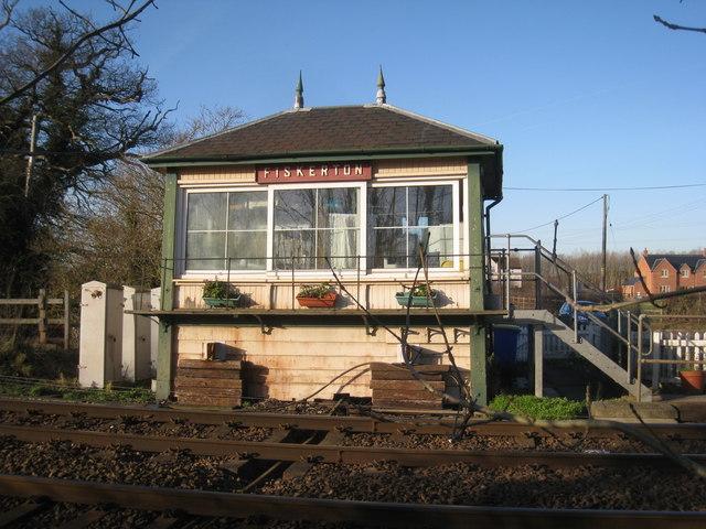 Fiskerton Station Signal Box