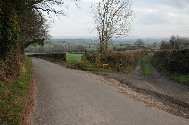 Road to Ffos House