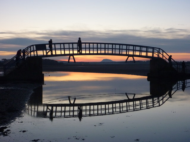 Coastal East Lothian : Crossing The Bridge At Belhaven