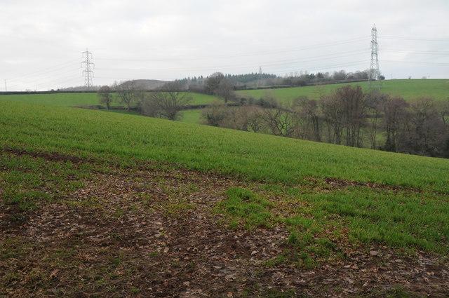 Farmland and Ysgyryd Fach