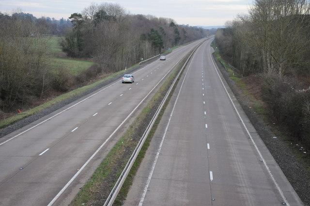 The A40 near Clytha Park