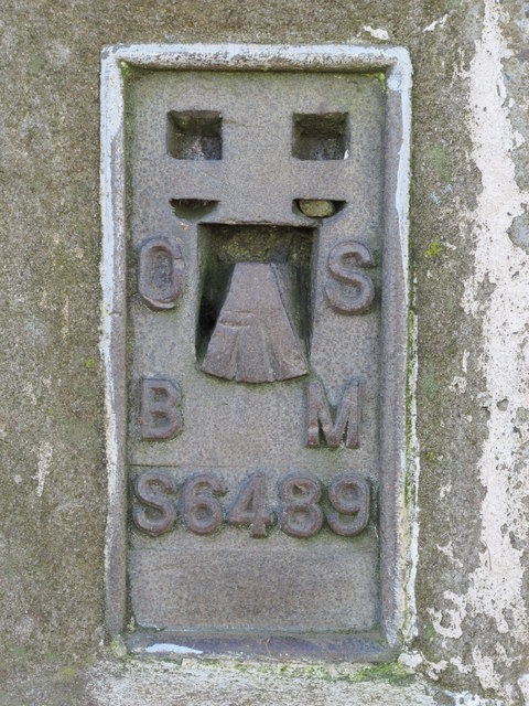 OSBM flush bracket on the trig point on Hadrian's Wall above Winshield Crags