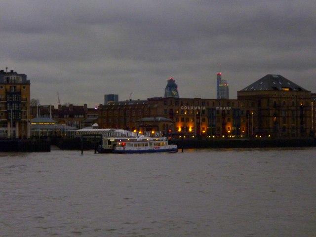 River Thames and Columbia Wharf SE16