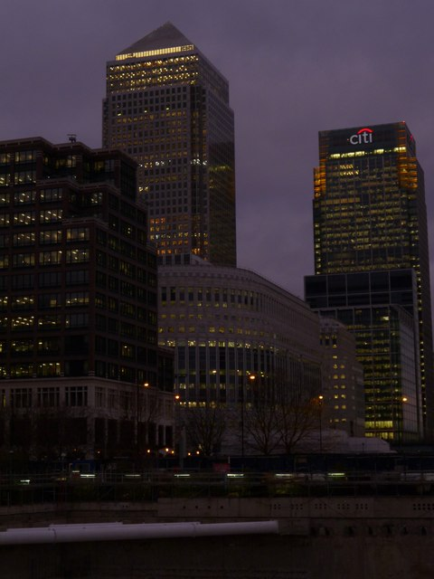 Buildings in twilight