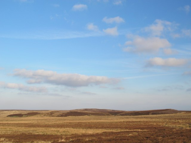 Moorland south of Great Lawsley and the Foumart Hills
