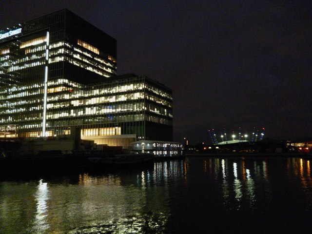 Office building, River Thames and O2 Centre