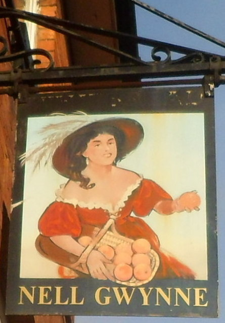 Nell Gwynne pub sign, Hereford