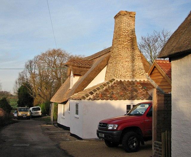 Dock Lane: rebuilt cottage
