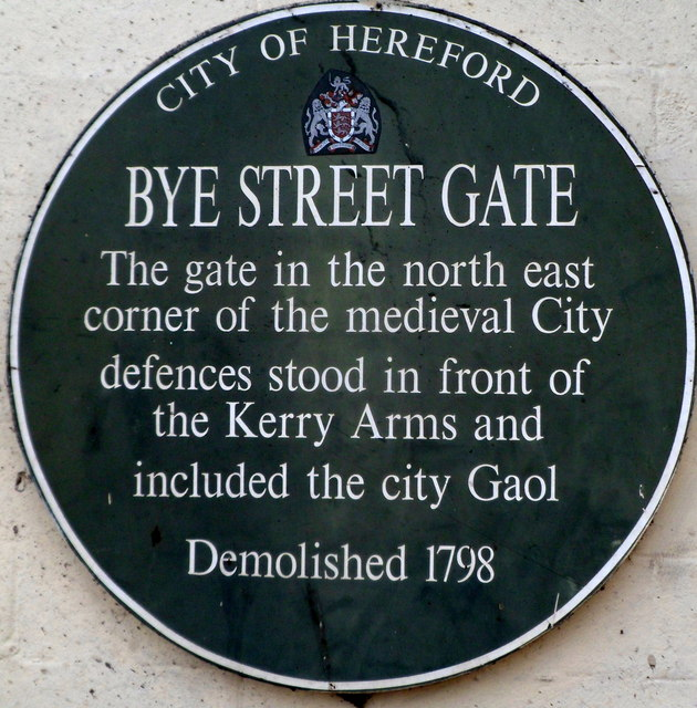 Bye Street Gate plaque, Hereford