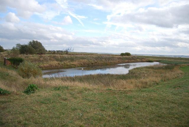 A pond near Stoke Airport
