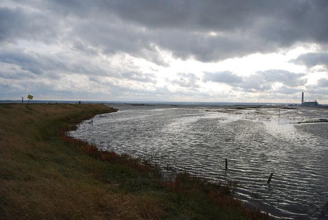 High tide, Stoke Saltings